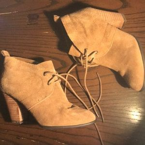 Lucky Brand Lace Up Heeled Booties